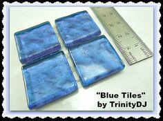 Royal Blue Tiles Cabochons Watermark Tiles by TrinityDJBoutique Blue Tiles, Royal Blue, Card Holder, Handmade, Crafts, Stuff To Buy, Etsy, Products, Hand Made