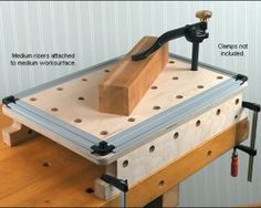 New Veritas Benchtop Worksurface with Dog Holes and T-Tracks