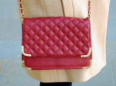 Quilted Red Bag