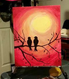 Red sky birdies