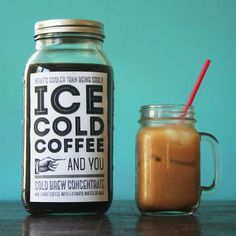 Cold Brew Coffee Tutorial + Free Printable submitted to InspirationDIY.com