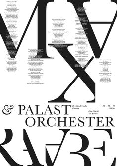 passau pøster kw_43 Max Raabe & Palast Orchester #poster #plakat #typography #graphic_design #black_and_white #pure_typography #design #prints #passau #inspiration