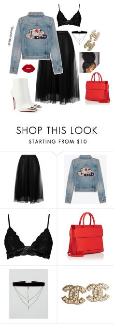 """""""White Shoes?"""" by riskyclothing ❤ liked on Polyvore featuring Christian Louboutin, Valentino, Yves Saint Laurent, Boohoo, Givenchy, ASOS, Chanel and Lime Crime"""