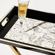 Luxury lacquered tray | ETOILE | Champagne view | CÔCO GIN | Serving tray | Luxury | BUTLERS TRAY