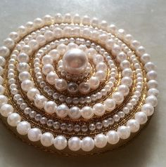 A Pearl applique, Moti bead round applique, bridal patch, zari/bullion wire patch, wedding dress applique patch Applique Wedding Dress, Embellished Dress, Panda, Embellishments, Patches, Diy Projects, Diy Crafts, Pearls, Bridal