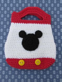 Mickey Mouse crochet tote bag purse - kids purse - Disney - Disney World