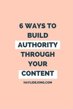 The best way to build authority? Have strong content. Click through to find out some of my tips to come up with memorable, shareable content PLUS some content formats that you might not have thought of.