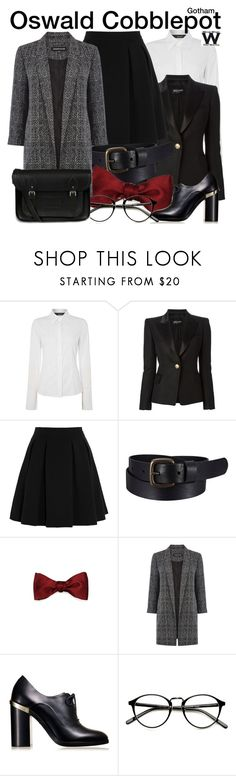 """""""Gotham"""" by wearwhatyouwatch ❤ liked on Polyvore featuring Oui, Balmain, By Malene Birger, Uniqlo, Warehouse, Reed Krakoff, The Cambridge Satchel Company, television and wearwhatyouwatch"""