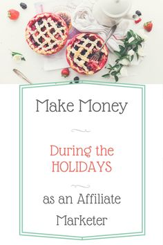 Make Bank During Holidays as An Affiliate Marketer Make Easy Money, Easy Work, Bank Holiday, Christmas Traditions, Extra Money, Christmas Time, Activities For Kids, Place Card Holders, Marketing