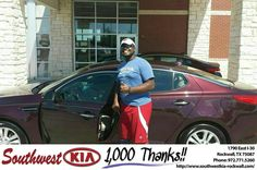 https://flic.kr/p/GQdJ3v | Congratulations D'Marviyon on your #Kia #Optima from Chris Johnson at Southwest KIA Rockwall! | deliverymaxx.com/DealerReviews.aspx?DealerCode=TYEE