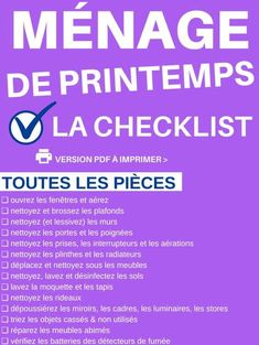 List + Planning for Spring Cleaning (Clean Without Chore) – Car Sticker
