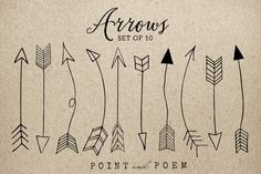 Check out Hand Drawn Arrow Clip Art Png+Vector by Point and Poem on Creative Market