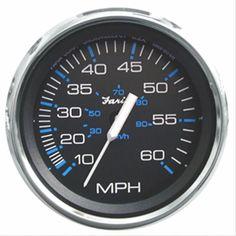 Faria Chesapeake Black SS 4 Speedometer - 60MPH (Mechanical)