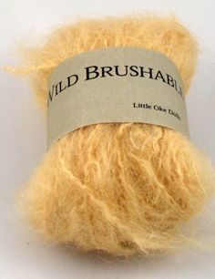 Wild brushable mohair prírodný blond