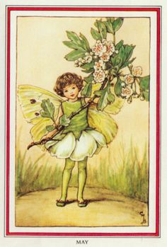 Cicely Mary Barker MAY Flower Fairy Beautiful | eBay