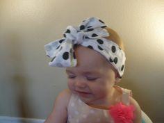 Bow Hair Bow Hairbow Headwrap Headscarf by Goodtreasures123