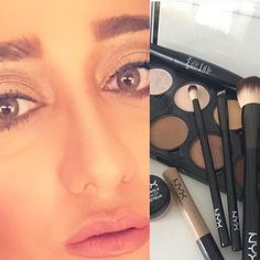 Loved the NYX contour pallet it's really has s great shades and its easily mixed up with your foundation  great job @nyxcosmetics @nyxarabia by asmabeautyqueen