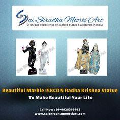 Buy beautiful marble ISKCON Radha Krishna statues to make beautiful your life. Sai shradha moorti art is a manufacturer of white marble ISKCON Radha Krishna statues. We can also sculpt Moorti(God Idol) according to our customer's requirements.  Contact us: +91 9928319442, 7976419167 #mkranamarble #sculpturerartisit #sculptureart #jaishreekrishna #sculptures #indianart #marbletemplemanufacturer #gurupornima #godradhakrishna #iskconstatue #radhakrishnamarblestatue #radhakrishna #iskcon Marble Art, White Marble, Sculpture Art, Sculptures, Krishna Statue, Jai Shree Krishna, India Art, Lord Vishnu, Sculpting