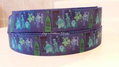 "89 cents per yd Disney Hitchhiking Ghosts Grosgrain Printed Ribbon - 5 YD - 7/8"" Dog collars, hair bows, key chains, belt ribbon, key fob by GigisRibbonShoppe on Etsy https://www.etsy.com/listing/254228767/89-cents-per-yd-disney-hitchhiking"