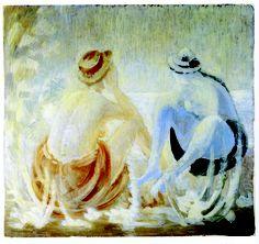 Donne in spiaggia - Viviani Vittorio - Opera Bugatti, Shake, Opera, History, Summer, Painting, Art, Craft Art, Smoothie