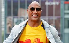 Download wallpapers Dwayne Johnson, 4k, portrait, photoshoot, smile, American actor, Hollywood star