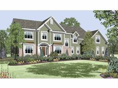 Eplans New American House Plan - Four Bedroom New American - 3859 Square Feet and 4 Bedrooms(s) from Eplans - House Plan Code HWEPL65392