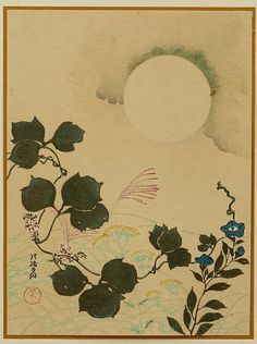 Ogata Korin: Moon and Autumn Flowers