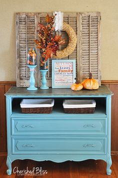 I like the idea of a dresser in the hallway for 'stuff', just outside my laundry room but it would need to be narrow to work (note to self: see other pin for more details)