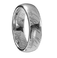 Lord of the rings titanium fashion ring size 7