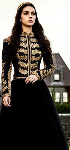I absolutely love this outfit of Adelaide's in Reign❤️❤️ Reign Dresses, Prom Dresses, Blue Dresses, Pretty Dresses, Beautiful Dresses, Reign Fashion, Dress Fashion, Fashion Goth, Fantasy Dress