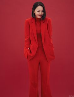 """Shin Hye Sun, who shines in the tvN drama """"My Secret Forest"""" but seemed stuck in a black suit, (LOL) shows up in the August version of Harper's Bazaar…in various black suits… Asian Actors, Korean Actresses, Korean Actors, Actors & Actresses, Kdrama Actors, Korean Artist, Black Suits, Korean Celebrities, Best Actress"""