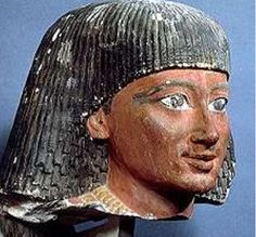 Sennefer with red ochre over his dark pigmented complexion, 19th dynasty.