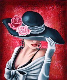 Картинки по запросу картины дамы в шляпах