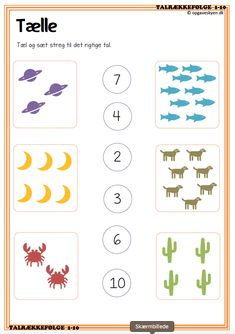 Kindergarten Learning, Preschool Learning Activities, Preschool Math, Math Pages, Math Games For Kids, English Worksheets For Kids, Numbers Preschool, Kindergarten Math Worksheets, Tricks