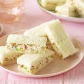 Waldolf finger sandwiches... My favorite salad on finger sanwiches!