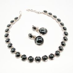 Vintage Monet Two Tone Hematite and Silver by VintageMeetModern, $55.00