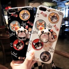 Black/white cartoon cat printing iphone case SE10588