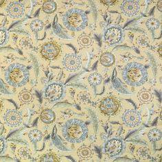 Pumice Yellow and Gold Foliage Print Upholstery Fabric