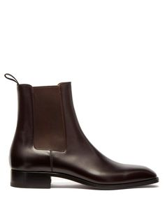 Great for Christian Louboutin Samson leather chelsea boots Shoes from top store Leather Chelsea Boots Mens, Chelsea Boots Outfit, Black Chelsea Boots, Mens Zipper Boots, Trendy Mens Shoes, Cargo Jacket Mens, Bomber Jacket, Leather Jacket, Men's Shoes