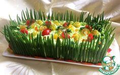 Закусочный торт «Наполеон» с красной рыбой - кулинарный рецепт
