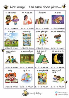 Zomervakantie leesbingo Rain Day Activities, Preschool Activities, Primary School, Pre School, Teach Like A Champion, Reading Bingo, Learn Dutch, Dutch Language, Co Teaching