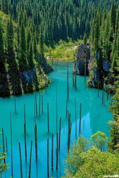 Lake Kaindy, Kazakhstan: