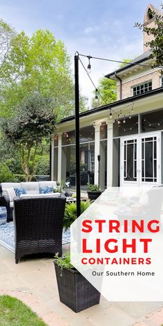 Blogger Home, Diy Home Decor Projects, Design Projects, Outdoor Lighting, Outdoor Decor, Garden Equipment, String Lights, Furniture Makeover, Garden Furniture