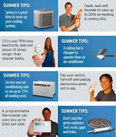 Summer time energy saving tips! | read more about saving #home #energy here http://home-saving-energy-tips.blogspot.com