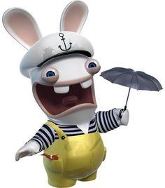 LAPIN CRETIN Rayman Raving Rabbids, Cartoon Art, Cartoon Characters, 3 Minions, Sonic The Hedgehog, Rabbits, Harley Quinn, Frogs, Mario