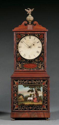 Mahogany Shelf Timepiece, attributed to Aaron Willard, Boston, Massachusetts, c. Old Clocks, Antique Clocks, Clock Shop, Modern Clock, Time Clock, Furniture Inspiration, Architecture Details, Boston Massachusetts, Art Decor