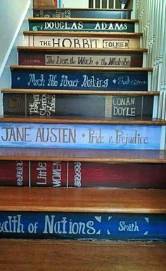 "Literary steps---so wondeful....add a new book each time a child finishes a book! Good for ""Black Bird"" readers like I was... wow what a motivator.... ctc"
