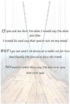 Gavin DeGraw- Not Over You - great song heard him live in concert