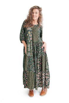Платье с заплатами - Штапель