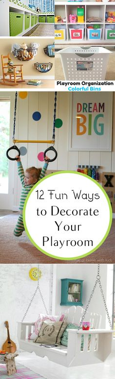 12 Fun Ways to Decorate Your Playroom